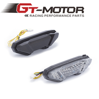 GT Motor - Free Shipping Motorcycle Brake Turn Signal Tail Light Integrated Led For YAMAHA 2013-2016 FZ MT-09 Plastic