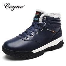 Ceyue 2017 Большие размеры 39-48 Для мужчин Снегоступы Мех теплая Повседневная обувь Мужские Мокасины зимние Для мужчин Обувь мужские полусапоги дешевые ковбойские ботинки