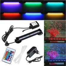 16-51CM new fish tank lamp plant growth aquarium LED decoration diving lamp RGB5050 Bubble Light with 24 key infrared controller