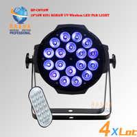 NO TAX UK STOCK Hex 18*18 W 6IN1 RGBAW UV di Alluminio Senza Fili WIFI HA CONDOTTO LA Luce Par LED Par proiettore di Luce Della Fase di DMX Con Powercon