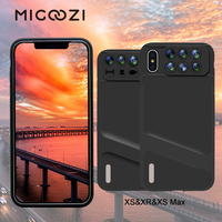for iPhone XS Max Camera Lens Kit Fisheye Wide Angle Macro Lens Telescope Lens With Phone Case Cover For iPhone X XS XS Max