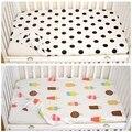 Nórdico Ctotton Polka Dot Clássico Ice Cream Padrão Berço Do Bebê Folha de Cama Lençol Cama de Bebê Favorito Adorno