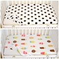 Nordic Ctotton Classic Polka Dot Ice Cream Pattern  Baby Crib Bed  Sheet  Baby Favorite Bed Fitted Sheet Adornment
