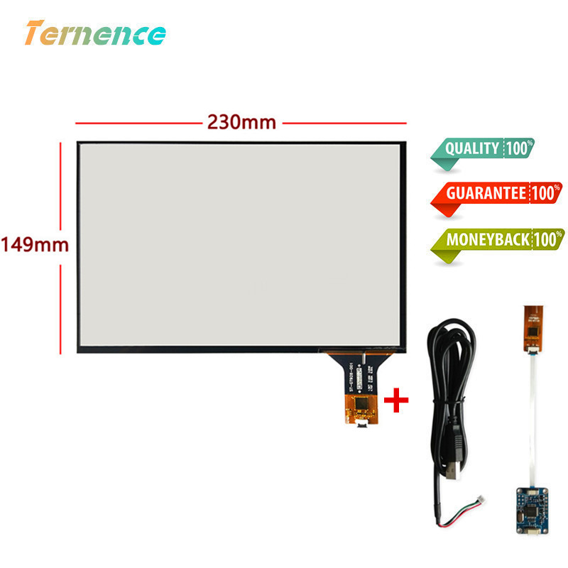 Skylarpu 10.1''inch Capacitive Touchscreen 230mm*149mm Touch Panel Glass Digitizer Car DVD Navigation Driver Board Set USB Cable