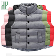 HH Children's Clothing winter Spring Waistcoats Boys Outerwear Coats for girls vest infant baby vest sleeveless Kids Warm Jacket