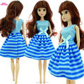 Free Shipping Handmade 1 Set Cute Fashion Blue Dress Clothes Outfit Cloth For Barbie Doll Accessories Girl' Gift Toys B
