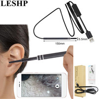 LESHP Multifunctional Endoscope Earpick 2 In 1 USB Ear Cleaning HD Visual Ear Spoon With Mini