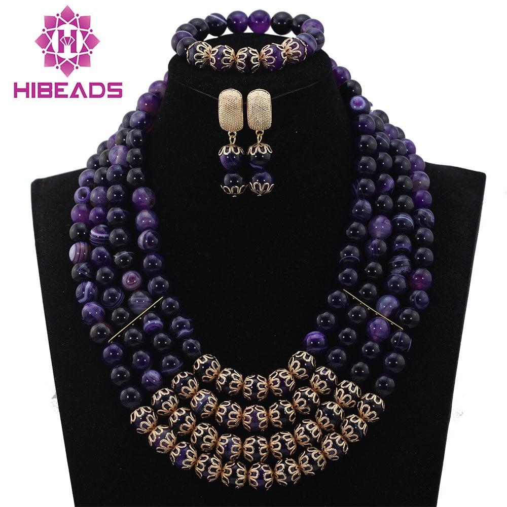 Top Quality African Precious Stone Necklace Wedding Bridal Jewerly Set Fashion Women Costume Jewelry Set Free Shipping ABL508 цена и фото