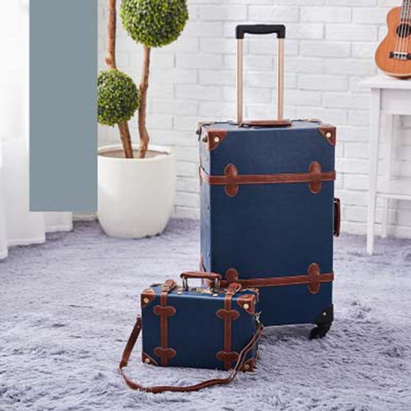 LeTrend Retro 26 Inch Spinner Rolling Luggage Set Korean Version Travel Bag Trolley Women Suitcase Wheels Vintage Cabin Trunk