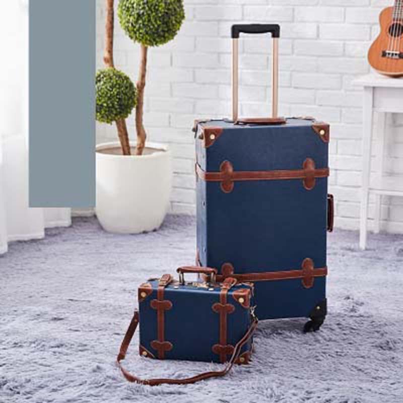 LeTrend Retro 26 pulgadas juego de equipaje rodante versión coreana bolsa de viaje carro mujeres maleta ruedas Vintage cabina maletero-in Maletas from Maletas y bolsas    1