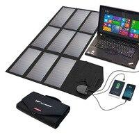 Мощность Bank 60 Вт Солнечный Мощность ed ноутбука Мощность Bank 2 USB 1 DC Выход для iPhone iPad MacBook samsung dell hp acer 12 В автомобиля Батарея