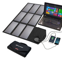 ALLPOWERS Solar Phone Charger 60W Foldable Solar Laptop Charger For IPhone IPad MacBook Samsung Dell HP