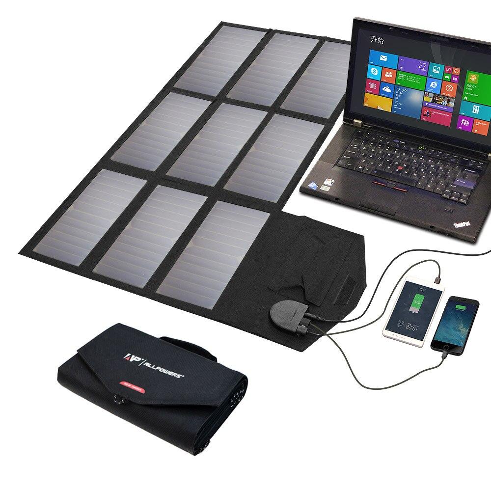 Chargeur solaire Portable pliable ALLPOWERS chargeur solaire extérieur haute efficacité 60 W pour téléphones portables, ordinateurs portables, drones etc.