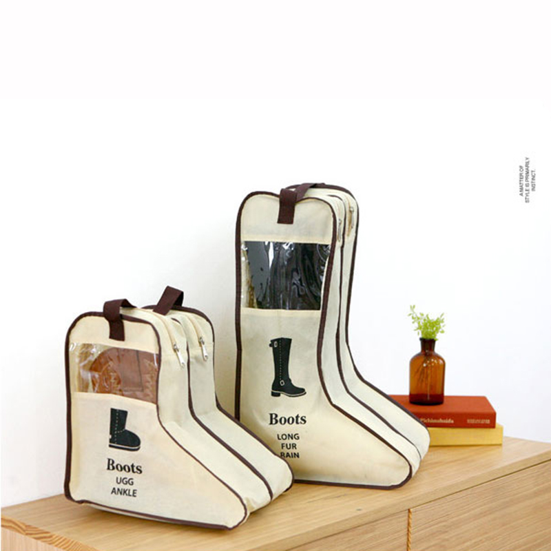 Visual Non-woven Boots Bags Window Boots Storage Bags Novelty Shoes Organizer Home Storage & Organization