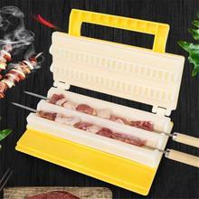 Многофункциональная двухрядная леска для барбекю, мясорубка, многоразовые шампуры для мяса, для приготовления пищи на открытом воздухе, портативное кухонное оборудование для барбекю