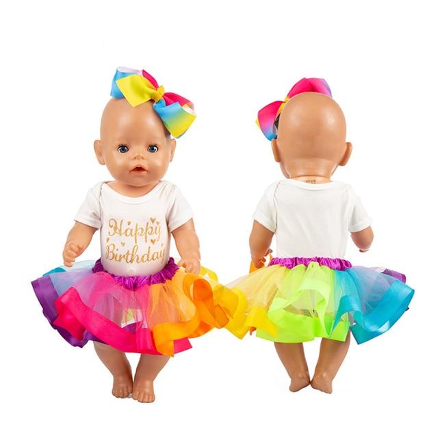 Vestido de muñeca a la moda-accesorios My Little Baby Fit 18 /43-46cm American/Life/Generation Doll-juguetes ropa traje para niñas regalos