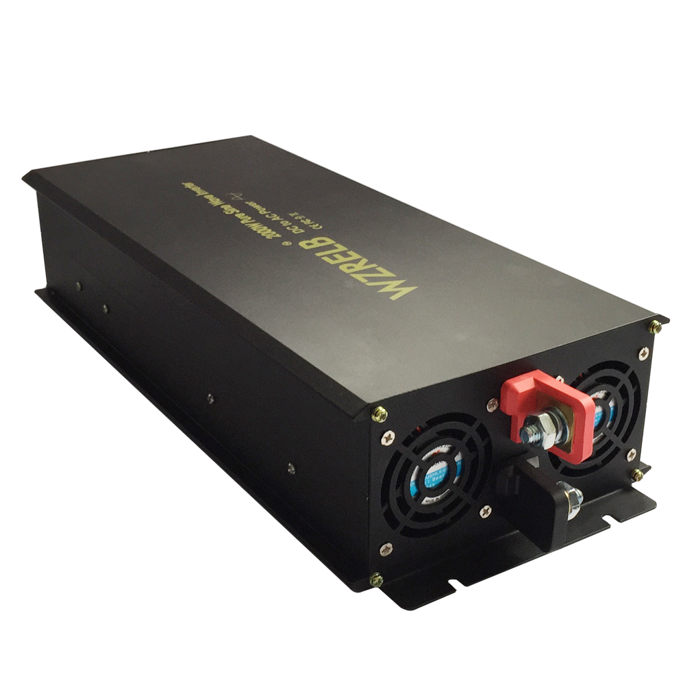 Pur Puissance D'onde Sinusoïdale Onduleur 24 V à 220 V 2000 W Générateur Onduleur Solaire Système Convertisseur 12 V 48 V DC à 120 V 230 V 240 V AC Réfrigérateur