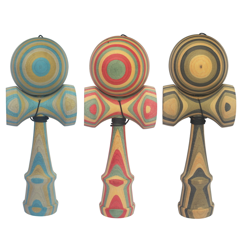 New High Quality Safety SCIENCE Wooden Kendama font b Toy b font Ball Professional Game Juggling