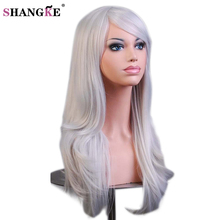 SHANGKE Long Wavy Synthetic Wigs For Black Women Red Wig Heat Resistant  Female Hair Cosplay Wig