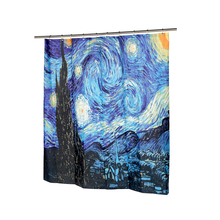 Fashions The Starry Night Fabric Shower Curtain Waterproof Polyester Bath Curtain Bathroom Product With 12 Hooks
