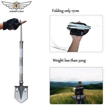 Aigle Tout-puissant En Plein Air MINI Multifonctionnel Pelle Survie Outil Tactique Pliant Pelle Camping Chasse Femmes Auto-défense