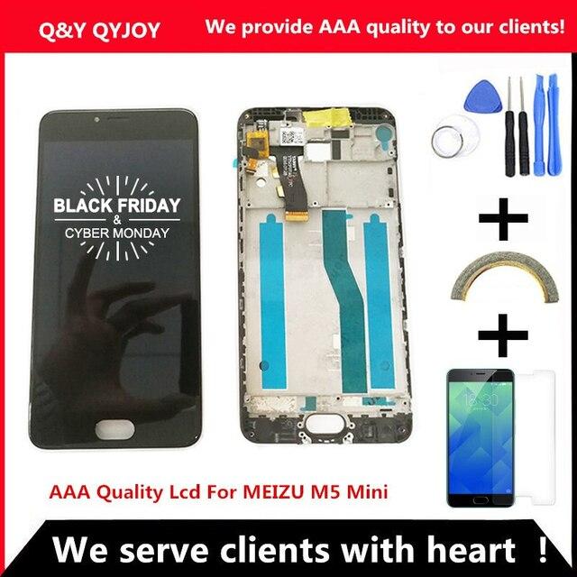 AAA جودة LCD + الإطار ل MEIZU M5 شاشة Lcd صغيرة 5.2 بوصة شاشة محول الأرقام شاشة تعمل باللمس لاستبدال M611D/A/Y/H