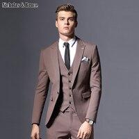 N&B suits men 2019 Male Classic Groom Suit Large Dresses Latest Coat Pant Designs Business Slim Fit Tuxedo Wedding Man Suits SR4