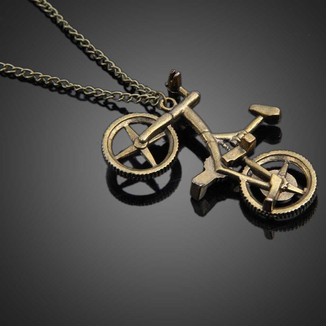 Casual sporty unisex bike pendant necklaces retro fashion metal casual sporty unisex bike pendant necklaces retro fashion metal bicycle necklace long chain jewelry wholesale aloadofball Image collections
