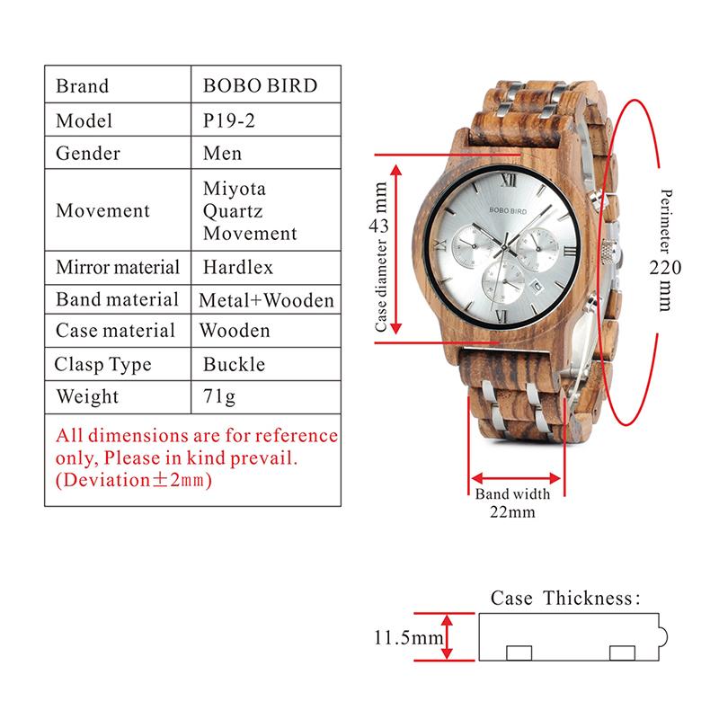 Relojes de Madera con Banda Metálica 21