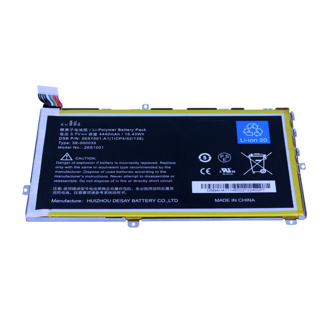 "HASESS 3.7 V 4440mAh16. S2012-001-A 43Wh Bateria para Amazon Kindle Fire Hd 7 ""S2012-001-d X43z60 26s10001 58-000035 (11cp4/82/138)"