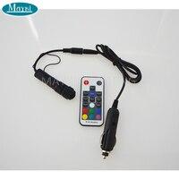 Maykit mini 1.5 W RGB 12 V Luz de fibra óptica iluminador 18key RF para el lado del coche glow iluminación