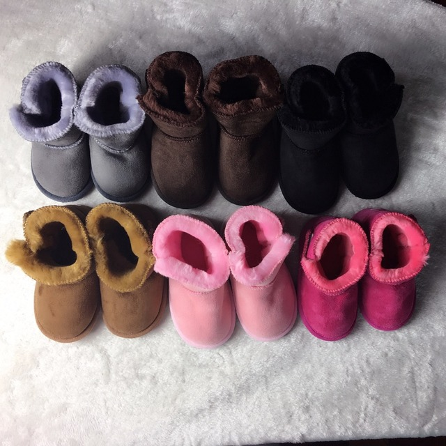 Hard soles Warm Winter Boot Baby Girl Newborn Shoes Baby Moccasins With Fur Soft Soled Shoes Newborn Kids Boys Booties