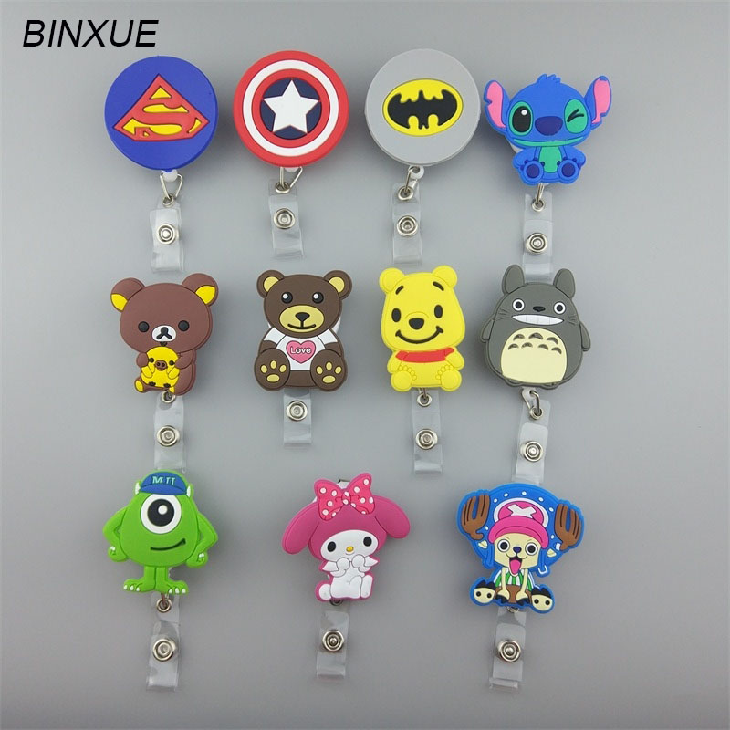 BINXUE Cartoon Employee ID card Easy to buckle badge Employees Lanyard Tag