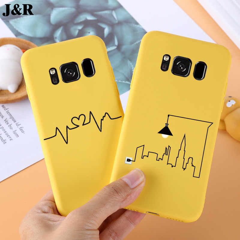 Cute Case For Samsung Galaxy S8 G950 G950F Silicone Cover TPU Cases For Samsung S8 Plus SM-G955N Soft Phone Bags Protective