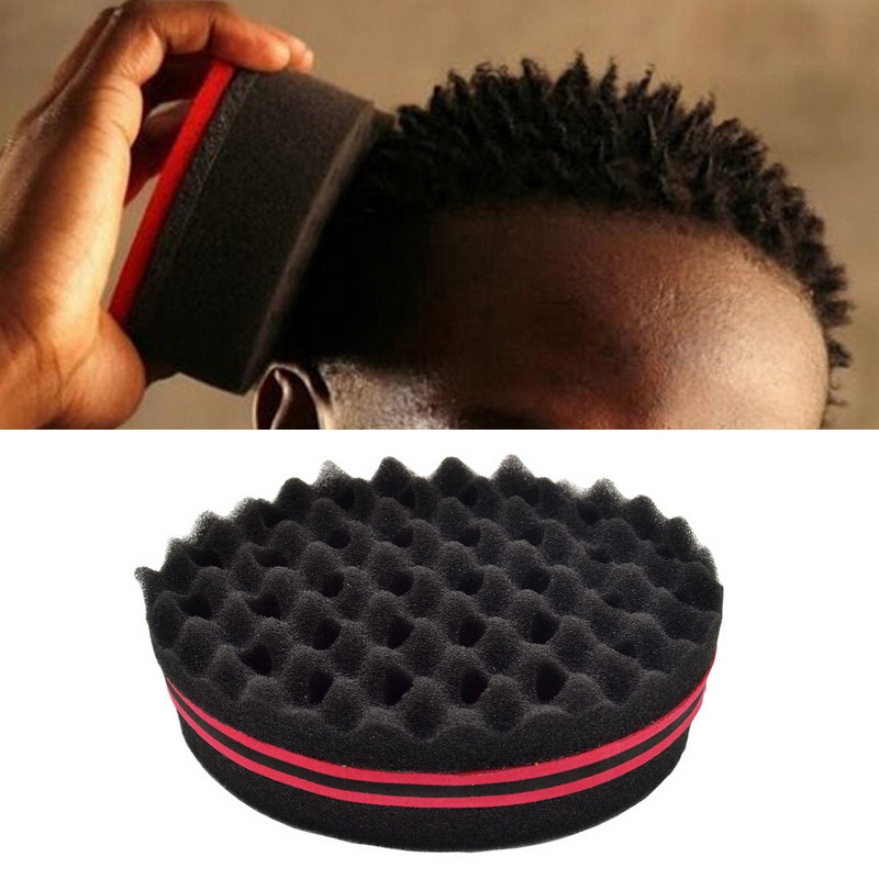 Honesty Best Double Sided Barber Hair Brush Sponge Dreads Locking Twist Coil Afro Curl Wave Personal Care Appliance Parts