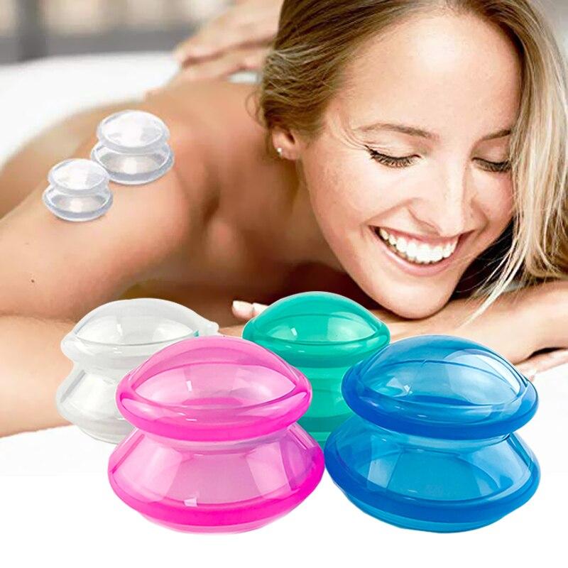 Силиконовая антицеллюлитная присоска, массажные чашки для тела, китайский набор вакуумных банок для похудения, вакуумные чашки синего/зеле...