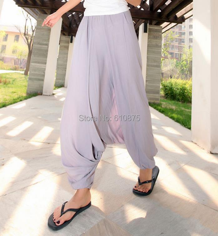 Wanita Musim Semi Pertengahan Elastis Pinggang 100% Katun Longgar - Pakaian Wanita - Foto 5