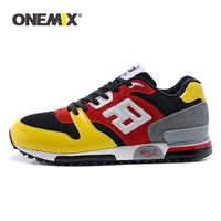ONEMIX Men Women Retro Running Shoes Rubber Leather Sport Trainers Original Sneakers Breathable Female Walking Jogging Shoes
