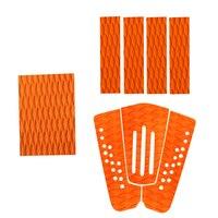 8 Pieces Orange Non Slip EVA Surfboard Surf Traction Pad Deck Grip Tail Pads For Men