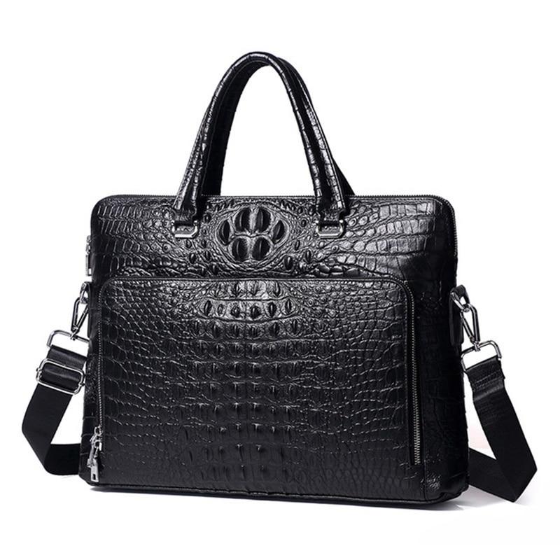 새로운 비즈니스 남성 정품 가죽 스웨이드 가죽 단색 휴대용 계약 문서 컴퓨터 핸드백 대용량 핸드백-에서탑 핸드백부터 수화물 & 가방 의  그룹 1