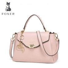 FOXERใหม่ออกแบบคลาสสิกหนังสุภาพสตรีกระเป๋าหนังแท้ไหล่กระเป๋าถือผู้หญิงหนังกระเป๋าสะพาย