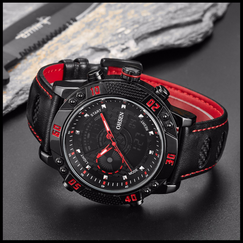 OHSEN Brand Mens Fashion Casual Reloj Quartz Watch Digital LED Relogios Military Relogio Masculino Diving Waterproof Men Watches (27)