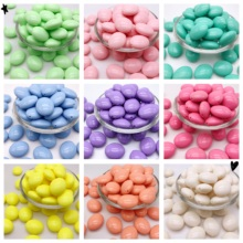 10pcs 24*29*15MM Oval Water Droplet Acrylic Candy Colors Beads For Jewelry Making DIY Children Necklace Bracelet Accessories