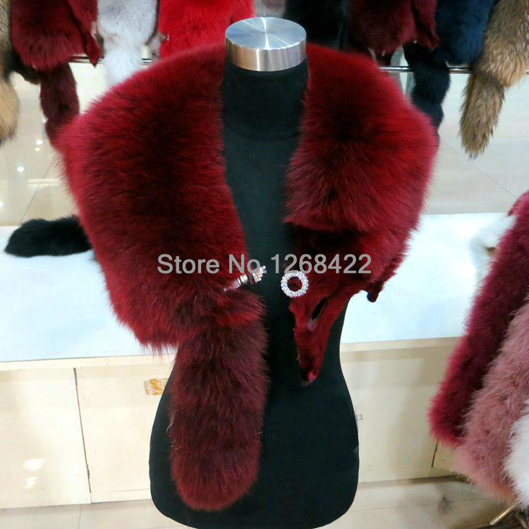 Бесплатная доставка супер люкс высокого качества на заказ браслет из натурального меха лисы, имитация бриллиантовые пряжки шерстяной шарф,