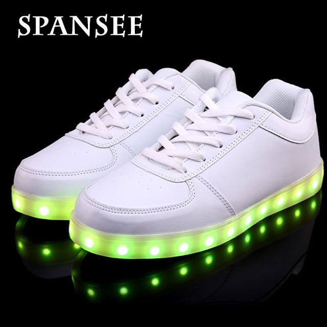 Tamaño 35-45 en rebajas zapatillas niños kids shoes con luz led luminoso que brilla intensamente led zapatilla niños niñas lumineuse shoes