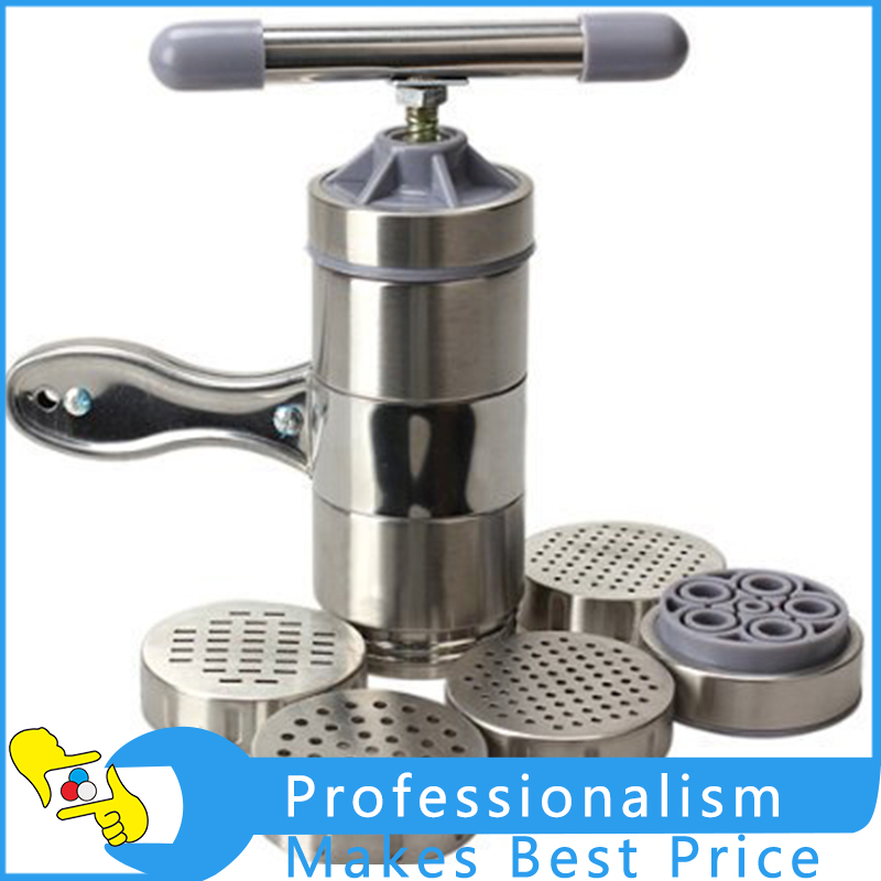 Manual Kitchen Pasta Noodle Spaghetti Machine Maker Press Stainless Steel Tool Kitchen Accessories 1pc household mini pasta machine manual metal spaetzle makers pressing machine pole head mingled split noodle tools