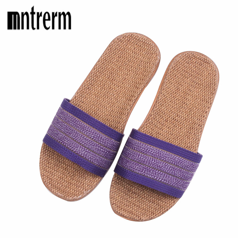 New Spring Summer Women Linen Home Shoes Non-slip Deodorant Sweat-absorbent Breathable Fashion Ladies Indoor Floor Slippers new women shoes breathable fashion ladies flats non slip summer wedges shoes for women aa10218