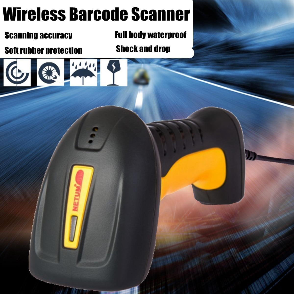 NETUM высокое качество Водонепроницаемый сканера штриховых кодов поддерживает непрерывную сканирования Reader 32Bit Портативный USB штрих-код для ...