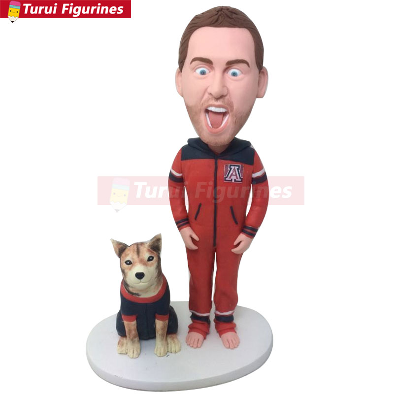 Funny Boyfriend Gift Arizona Wildcats Custom Bobble Head Personalized Husband Christmas Birthday Cake Topper Funn