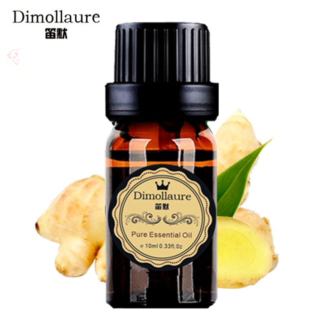 Dimollaure zencefil yağı için Yararlı soğuk algınlığı Saç bakımı Ayak bakımı Aromaterapi koku uçucu yağ banyo Spa Masaj yağı